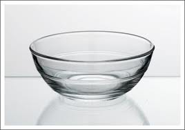 Glass bowls crème brûlée